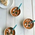 Carrot soup landscape