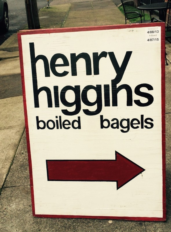 Best of Portland Cheap Eats - Henry Higgins Boiled Bagels, sign