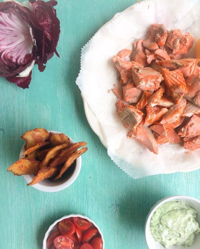 Roast Salmon BLT ingredients