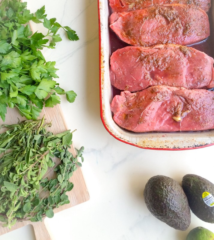 Steak with Avocado Chimichurri