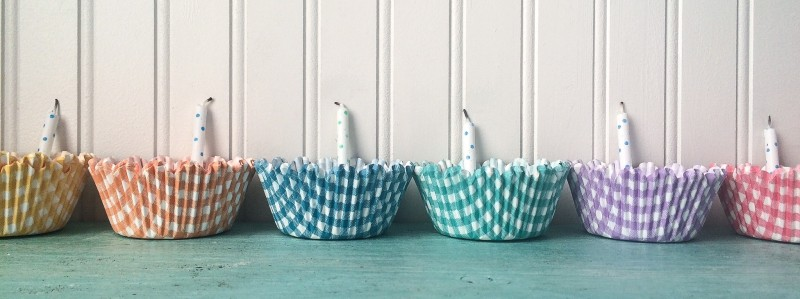 Gingham Cupcake  Liners