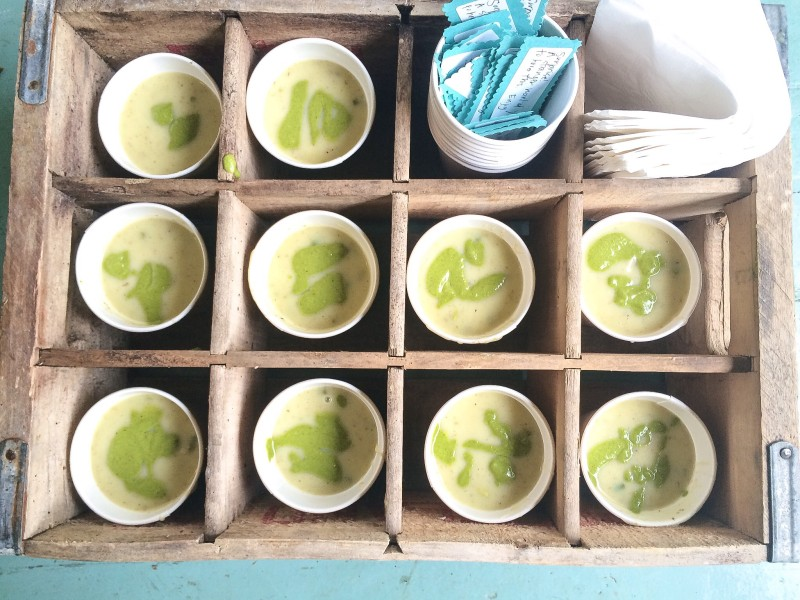 Meals on Wheels- Potato, Leek and Asparagus Soup