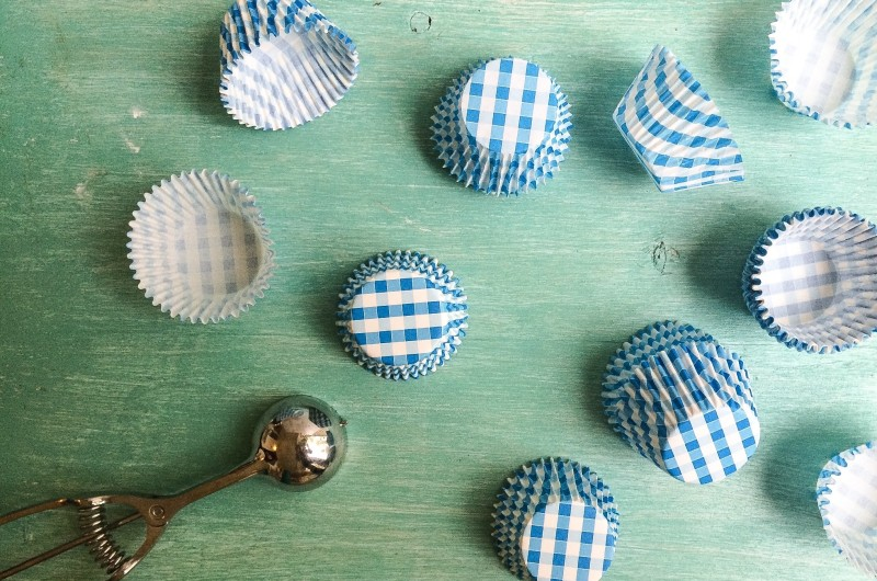 Gingham Muffin Liners