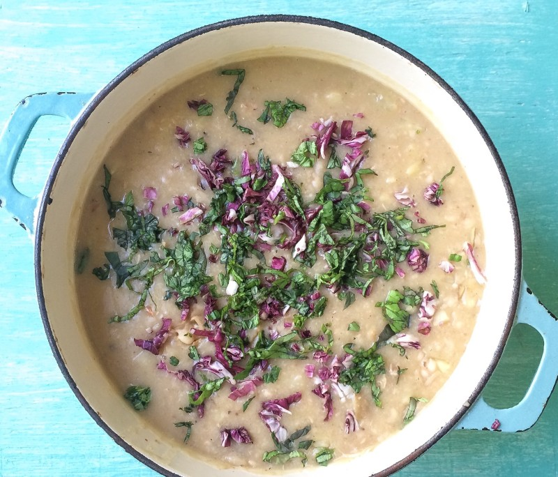 White Bean, Potato and Fennel Soup