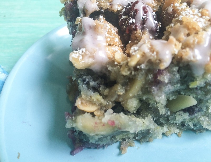 Blackberry Coffee Cake with Almonds