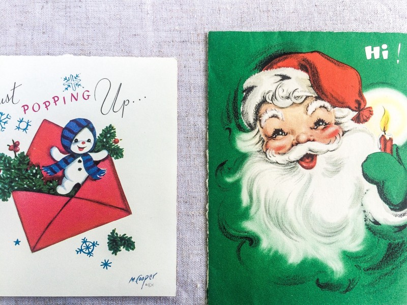 Vintage Christmas Cards from Portland Goodwill