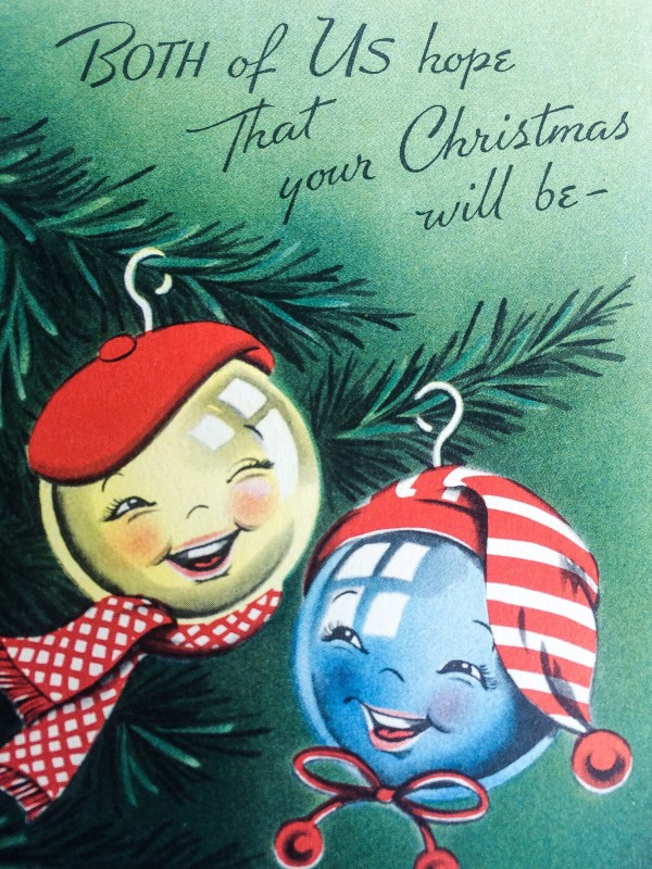 Vintage Christmas Card From Portland Goodwill Bins