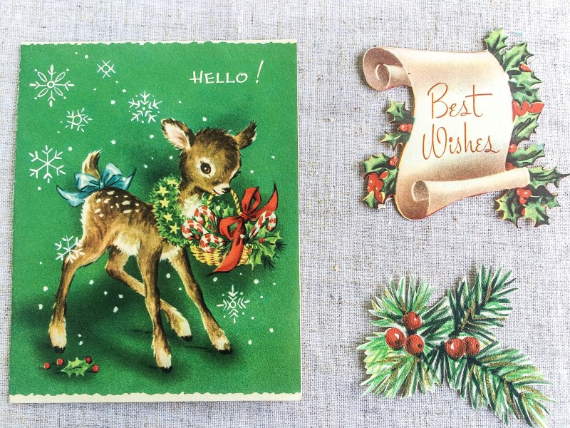 Vintage Holiday Cards from Portland Goodwill