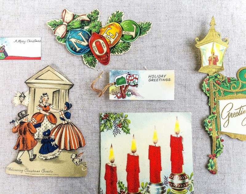 Vintage Holidays Cards and Tags at Portland Goodwill Bins