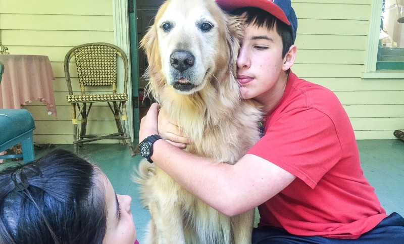 Bailey and Oliver on Porch
