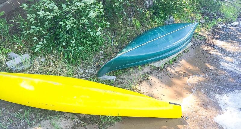 Kayaks on the Lake, Wisconsin