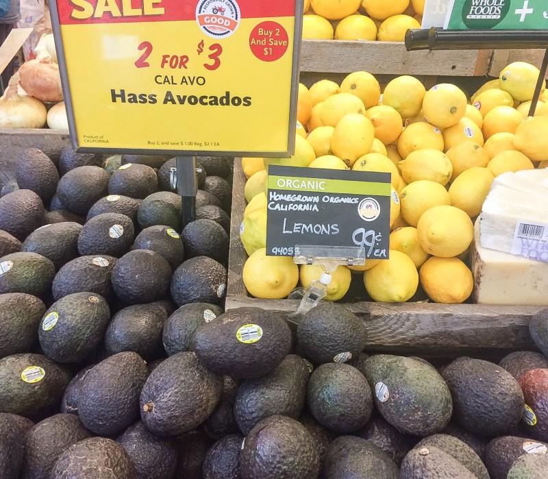 Avocados and Lemons at Whole Foods, Portland