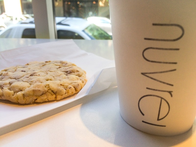 Almond Cookie and Hot Chocolate at Nuvrei, Portland
