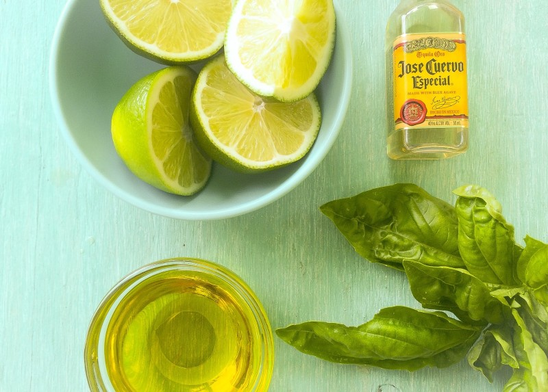 Grilled Chicken Marinade: Limes, Tequila, Basil and Olive OIl