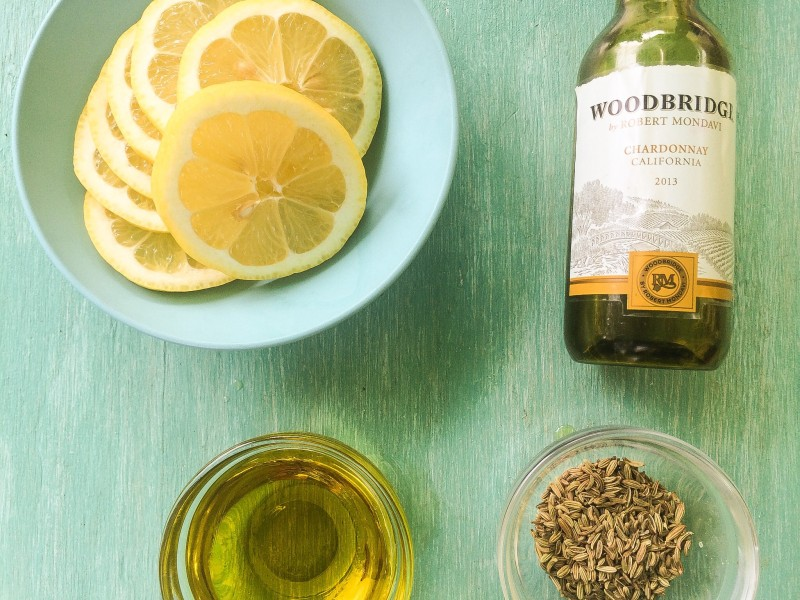 Grilled Chicken Marinade: White Wine, Lemon, Fennel and Olive Oil