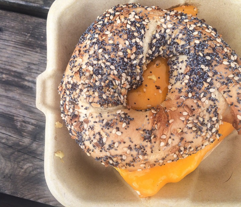 Bagel Sandwich at Bridgetown Bagel Food Truck