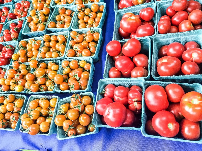 Tomato Varieties from PSU Farmers Market in Portland