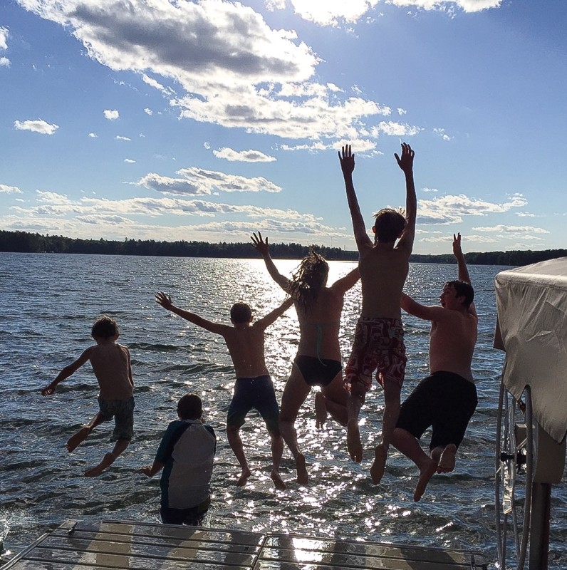 Jumping off Pier in Wisconsin, Family Reunion