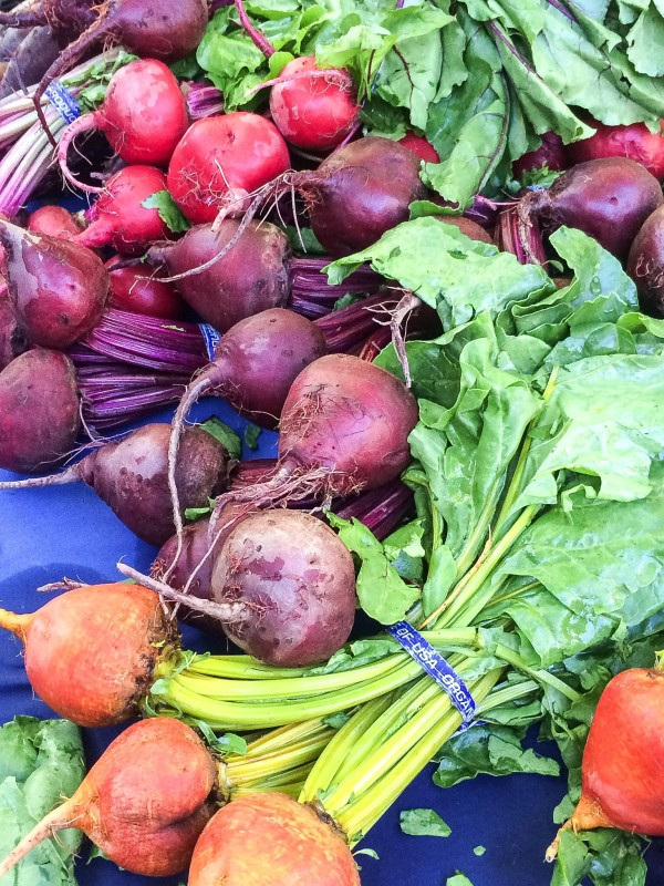 Rainbow Beets at PSU Farmers Market, Portland