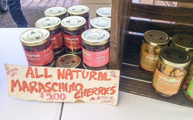 Maraschino Cherries at Unbound Pickling, Portland Farmers Market