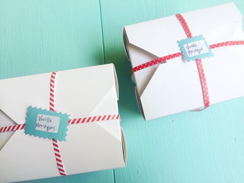 Vanilla Meringues Packaged