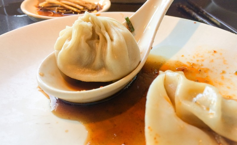 XLB Pork Soup Dumplings at Din Tai Fung Seattle