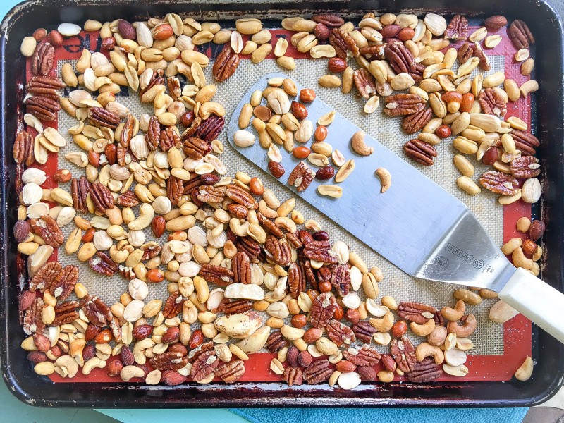 Homemade Dark Chocolate Bark with Roasted Nuts