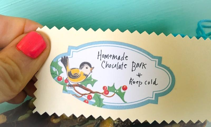 Homemade Tags for Chocolate Bark