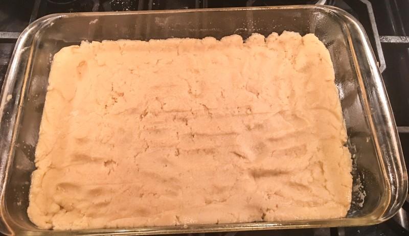 Salted Caramel Bars Dough
