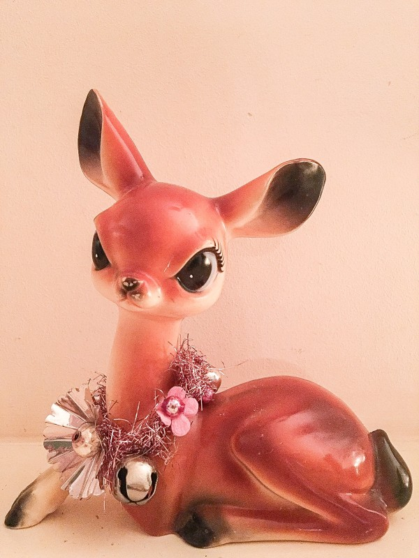 Vintage Deer Holiday Decoration