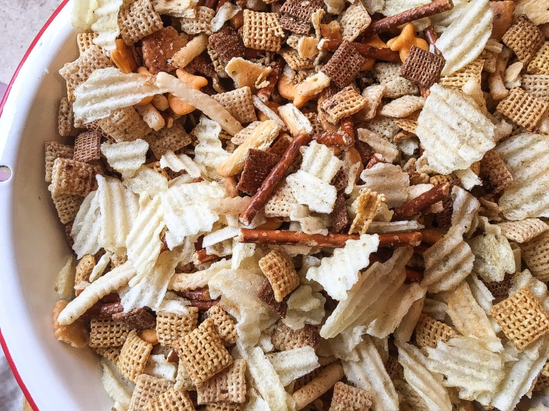 Chex Mix and Football Snacks