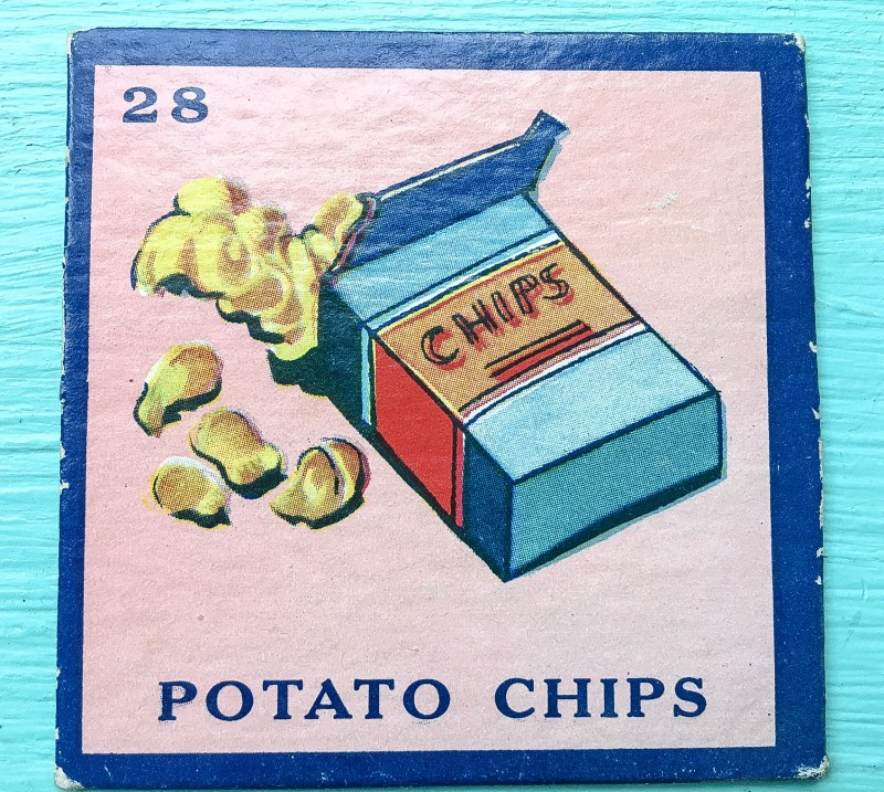 Vintage Piece from Old Board Game from Portland Goodwill, Potato Chips