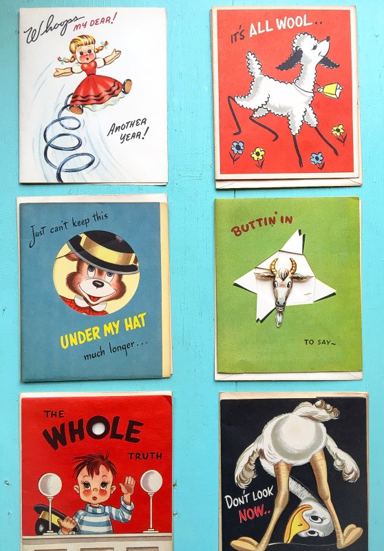 Vintage 50's Cards from Portland Goodwill