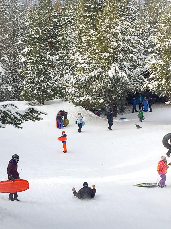 Sledding at Littlejohn Sno-Park on Mt. Hood