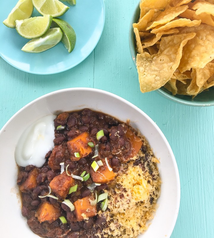 Black Bean Chili with Butternut Squash from Greens Restaurant Cookbook