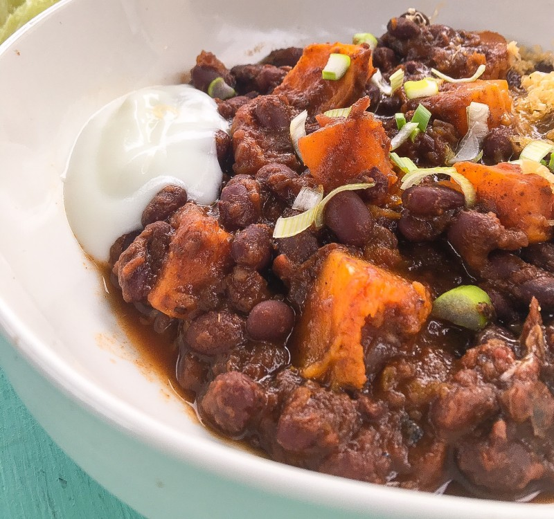 Black Bean Chili with Butternut Squash from Greens Restaurant