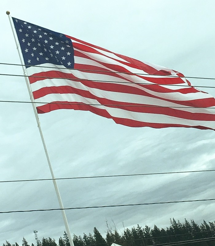 Flag at the Border