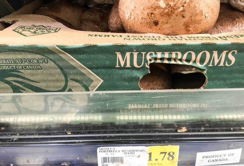 Portabella Mushrooms at Winco, Portland