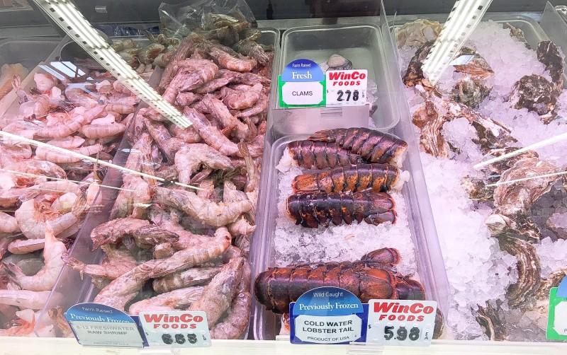 Seafood at Winco, Portland