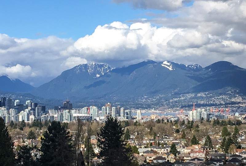 View from Queen Elizabeth Park Vancouver