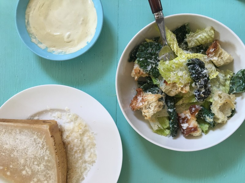 NYT Kale Romaine Caesar Salad
