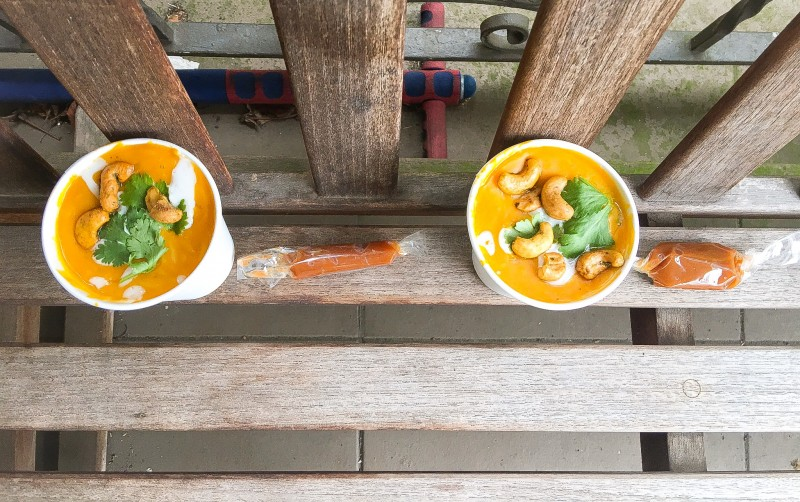 Roasted Kabocha and Panang Curry Soup