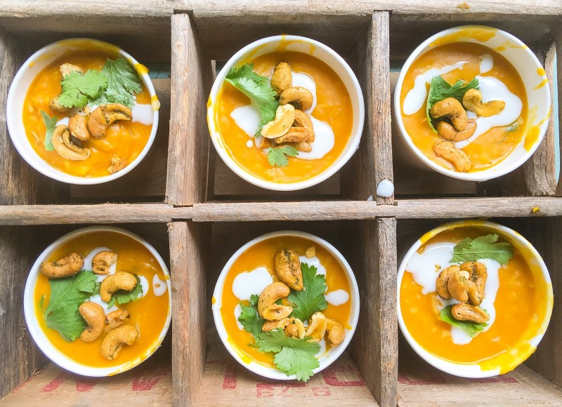 Roasted Kabocha Squash and Panang Curry Soup
