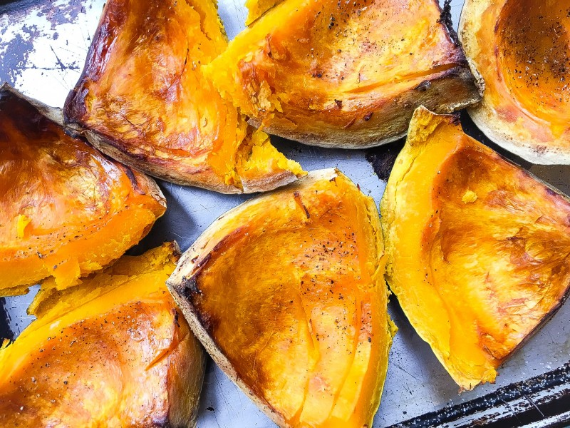 Roasted Kabocha Squash for Soup