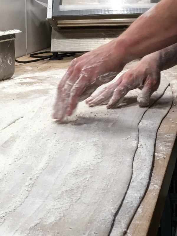 Making Papri Crackers in the Kitchen at Bollywood Theater, Portland
