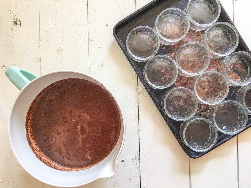 Homemade Bittersweet Dark Chocolate Pots de Creme