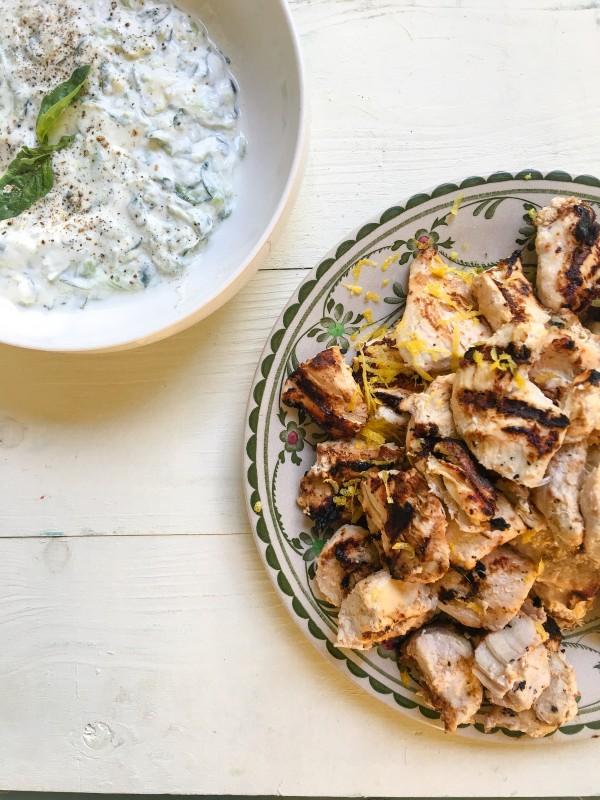 Greek Chicken and Tzatsiki from Lemonade Restaurant