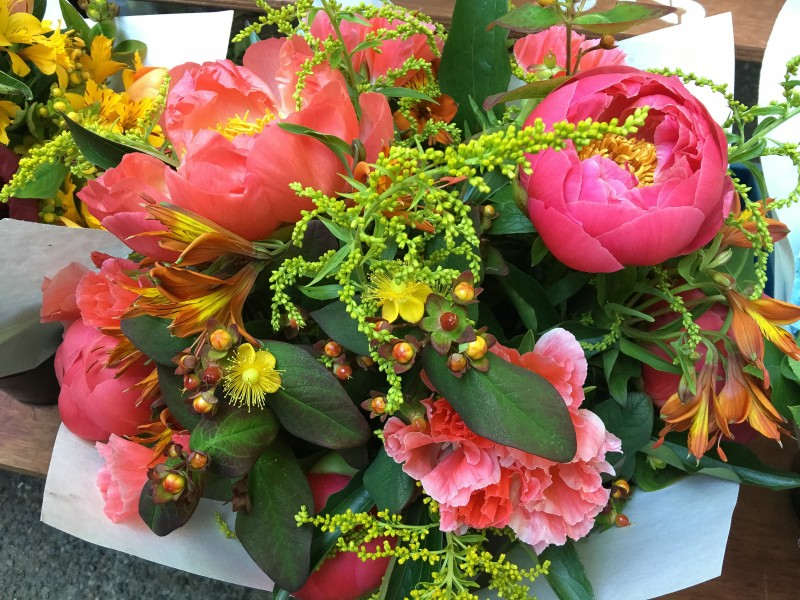 Fresh Flowers at PSU Farmers Market Portland