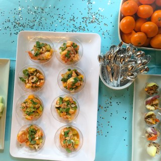 Appetizer Tips, Party, Roasted Shrimp, Avocado and Cantaloupe Appetizers for Baby Shower