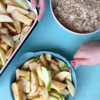 Apple Crisp Prep